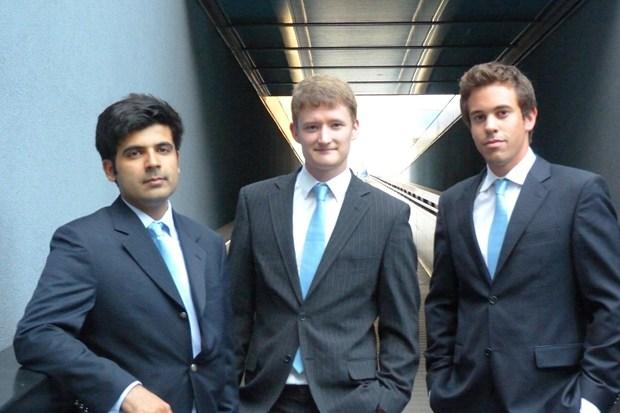 BBOXX founders Mansoor Hamayun, Christopher Baker-Brian and Laurent Van Houcke
