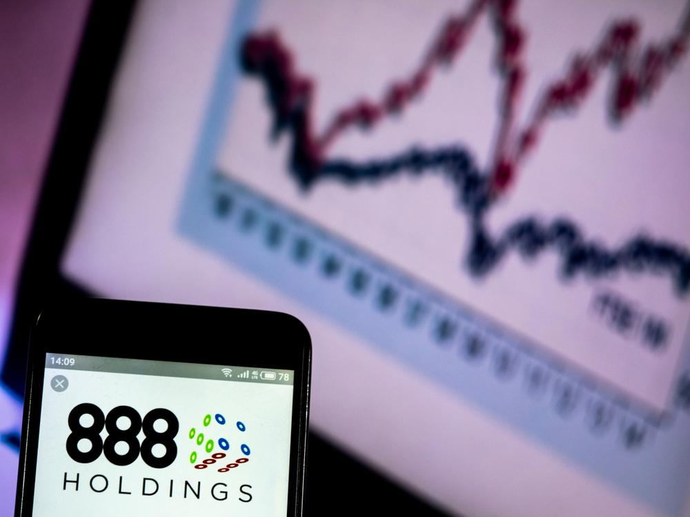 888 holdings on a phone screen
