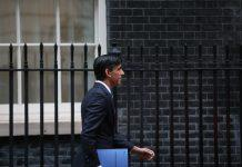 rishi sunak outside downing street furlough