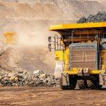 Open,Pit,Mine,Industry,,Big,Yellow,Mining,Truck,For,Coal
