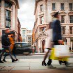 Motion,Blurred,Shoppers,Carrying,Shopping,Bags,On,Regent,Street,,London.
